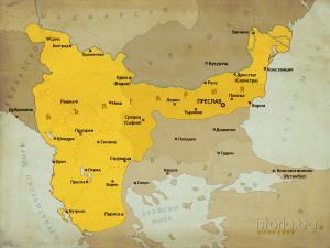 karta-bulgaria-car-samuilBylgariq pri car samuil